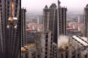 [별난세상] 중국 건물 해체 실력은 어느 정도?