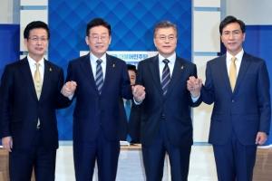 """문재인 출마선언…""""우리는 한팀, 호남이 압도적 정권교체 이뤄달라"""" TV토론"""