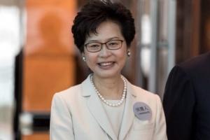 [포토] 홍콩 행정장관에 '친중파' 캐리 람 당선… 첫 여성수반 탄생