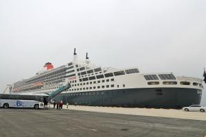 영국 대형 크루즈 '퀸 메리 2호' 인천항 첫 입항