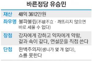 [바른정당 대선 후보 유승민] KDI·여의도연구소장 거친 4選 '경제브레인'