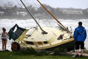 [포토]호주 강타한 초강력 태풍 데비의 위력