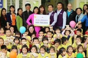 CU '사랑의 동전 모으기' 기부금 베트남 아동도서관 개보수 지원
