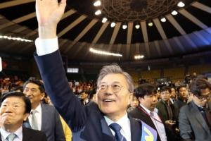 문재인, 민주당 충청경선도 1위…안희정 2위-이재명 3위