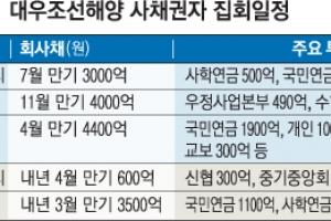 대우조선, 새달 17일 3차 사채권자 집회 '순번 승부수'