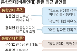 반문 기치 든 통합연대론… '무모한 시도'냐 '무한도전'이냐