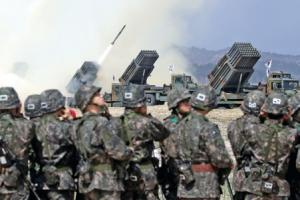 130㎜ 다연장 로켓탄 사격 훈련