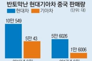 한국산 車에도 사드 불똥… 中 3월 판매대수 반토막