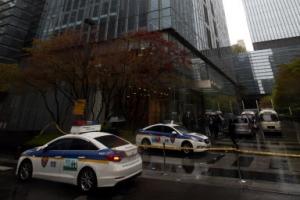 '삼성 서초사옥 폭발물' 협박 문자 인도서 최초 발송