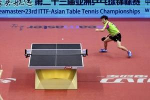 정상은, 남자탁구 아시아선수권서 세계 1위 중국 마룽 제압