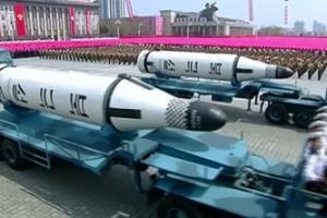 북한, 태양절 열병식서 '신형 ICBM' 추정 미사일 첫 공개