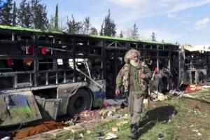 시리아, 철수하는 주민에게 폭탄 공격… 최소 100명 사망