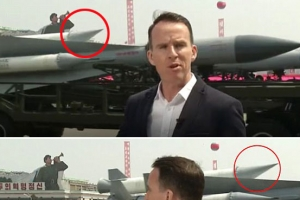 북한 열병식, 이번에도 가짜 무기?…휘어진 미사일 포착