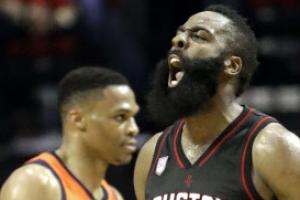 "[NBA] 제임스 하든, 턴오버 9개 웨스트브룩에 완승 ""MVP 달라"""