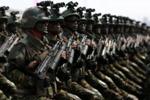 무시무시한 검은색 선글라스 '북한 특수작전군'