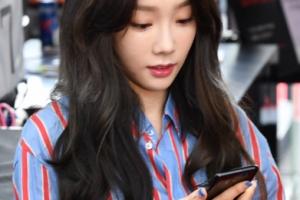 [서울포토] '갤럭시S8 예쁘네~' 태연, 개통행사 참석