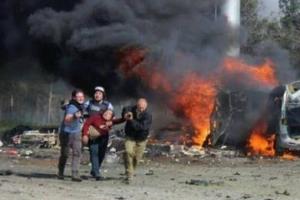 시리아 폭탄 테러, 취재 대신 구조 나선 기자들
