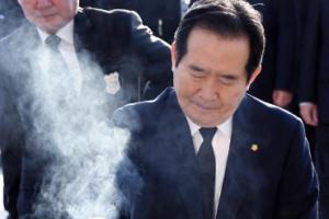 [서울포토] 정세균 국회의장, 4·19 묘지 참배