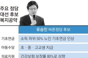 """劉 """"최저생계비 부양의무자 기준 폐지하겠다"""""""