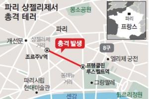 파리 심장부서 'IS 총격테러'… 佛 대선판 출렁