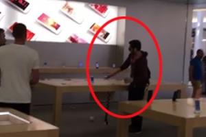 애플스토어 제품 1만 달러 어치 부순 남성, 그 이유가?