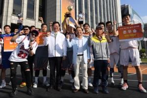 광화문 도심 직장인 농구 축제… 1만명 생중계 시청