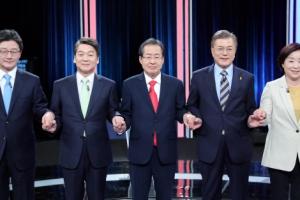 JTBC 대선후보 토론회 최대 승자는 손석희...꼴찌는?