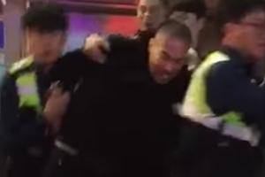 술집 난동 래퍼 정상수, 체포 당시 영상 공개