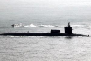 [포토]부산항 입항하는 핵잠수함 미시간호