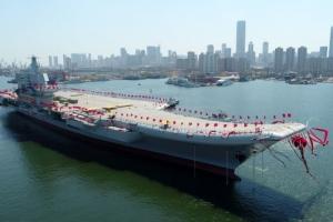 '전력 6배' 中 첫 국산 항모… 美해양 패권에 도전장