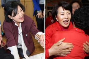 [포토] '오늘도 바쁜 하루' 대선후보 부인들
