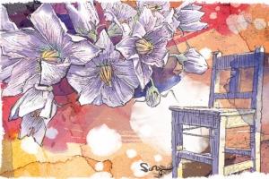 [이재무의 오솔길] 항아리와 감자 꽃과 경운기와 나무 의자
