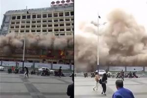 사전 경고 없이 폭파해체된 건물…시민들 혼비백산