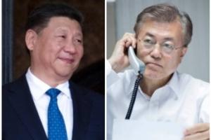 """문재인·시진핑 전화 통화…""""빠른 시일 내 만나길 기대"""""""