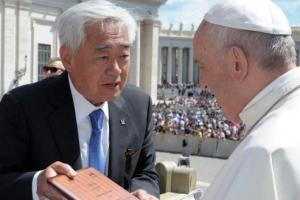 프란치스코 교황 '태권도 명예 10단'