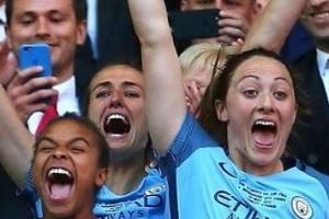 맨시티 여자축구 FA컵 우승, 9개월 동안 트로피 4개 수집
