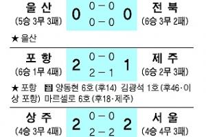 [프로축구] '극장골' 포항, 선두경쟁 가세