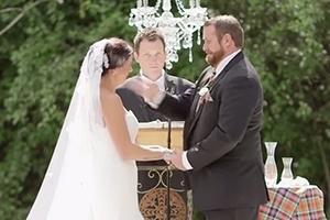 결혼식 중 신부 뺨 때린 신랑, 도대체 왜?