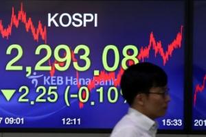 코스피 2,290초반서 쉬어가기…기관 '팔자'에 소폭 하락