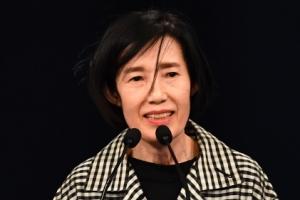[서울포토] 새 국가보훈처장으로 임명된 피우진