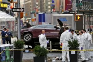 뉴욕 타임스퀘어에 차량돌진…1명 사망·20여명 중경상