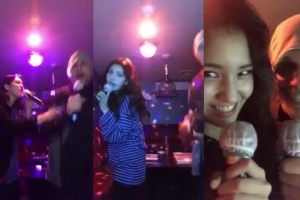 전소미가 아빠와 노는 법…노래방에서 댄스 삼매경