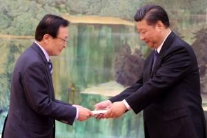 """시진핑, 이해찬 특사 접견…""""중국도 양국 관계 중시"""""""