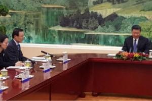 [포토] 시진핑, 이해찬 특사 좌석배치에 '외교적 결례' 논란