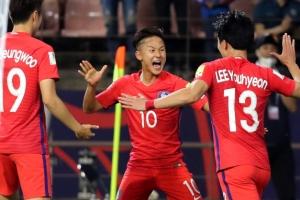 [U20 월드컵] '쾅·쾅·쾅' 한국, 1차전서 기니에 3-0 대승