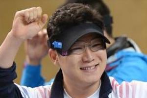 '황제' 진종오 뮌헨월드컵 50m 권총 세계新 우승