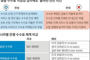 """금융 수수료 적정성 심사 검토… """"시장 옥죄기""""  vs   """"소비자 보호"""""""
