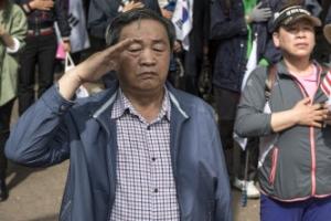 [포토] 박근혜 전 대통령을 향한 충성