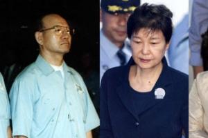 [포토] 21년만에 또... 수갑 찬 전직 대통령