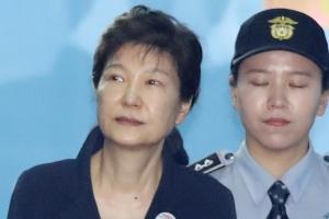 [서울포토] 재판 마친 박근혜 전 대통령